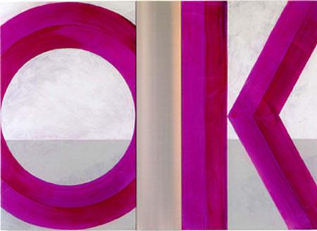 OK, 2008 Acryl auf Leinwand dreiteilig 150 x 210 cm