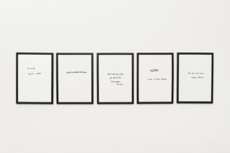 """""""14.11.2000, 22.16 - 22.20 Uhr"""", Tusche auf Papier (= Wecker)"""
