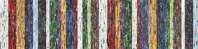 Desire 2.0 (12-teilig), 2008 / 2015 Collage auf Holz, Acryl,  150 x 600 x 5 cm