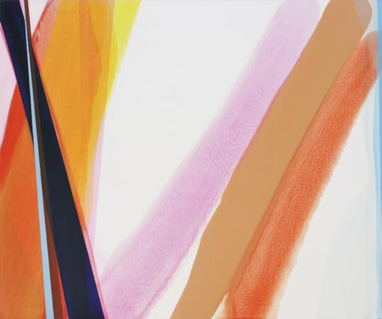 asymetric flow, 2009 Öl auf Leinwand 150 x180 cm
