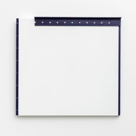 ohne Titel, 1990,  Öl auf Holz und Metall,  45 x 40 cm