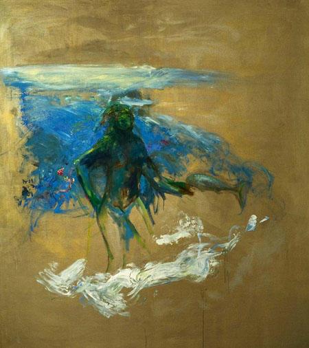 Oreithyia, 2009 Öl auf Leinwand 180 x 160 cm