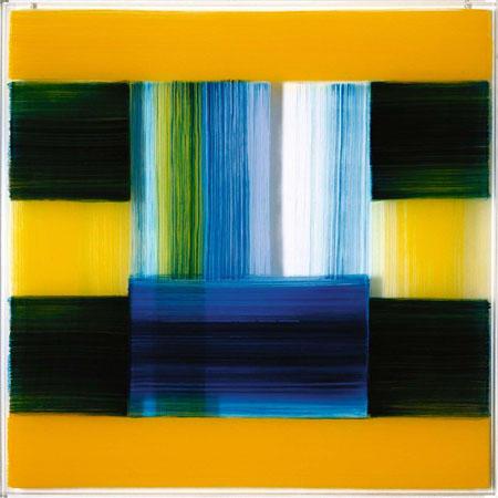 Transparencies – seasons 2008 Öl hinter Acrylglas, 4-teilig je 145 x 145 x 6,2 cm