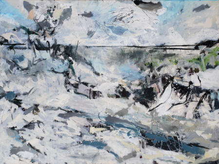 Nordische Seelandschaft, 2009,  Acryl und Öl auf Leinwand,  150 x 200 cm