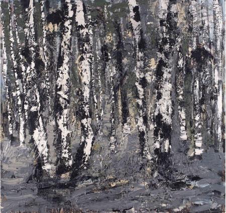 """Einfaches, gefühlvolles Waldmotiv"", 2009, Öl auf Leinwand, 170 x 180 cm"