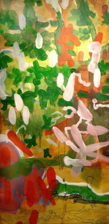"""Plants 5"", 2011,  Acryl auf Leinwand, 190 x 95 cm"