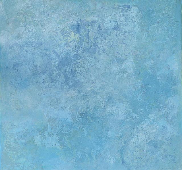 Deticated to Yves Klein,'10 Öl auf Leinwand 150 x 150 cm