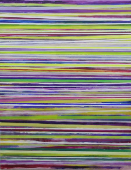 Nichts tiefer als flaches Land, 2009,  Öl auf Nessel,  190 x 150 cm,
