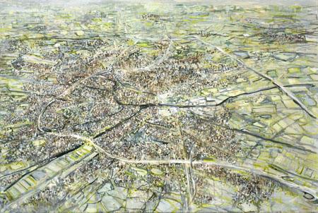 Oldenburg mit Umgebung, 2009 Ölfarbe auf Leinwand 80 x 120 cm