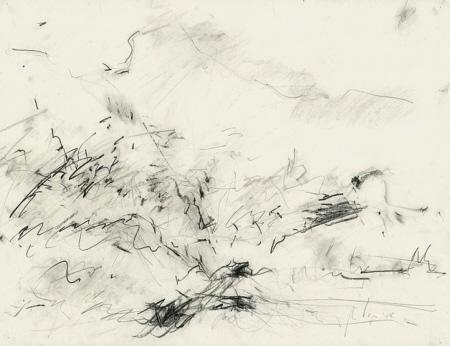 Improvisation über Seelandschaft II, 2008, Graphit,  50 x 65 cm