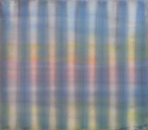 o T., (Faltenvorhang), 2001 Gouache auf Nessel 110 x 125 cm