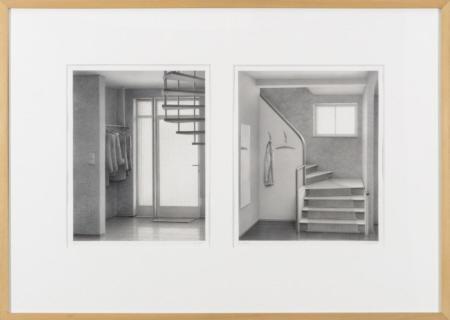 Ginger & Fred, 2006  Bleistift auf Papier, Diptychon  28 x 22 cm und 28 x 23 cm
