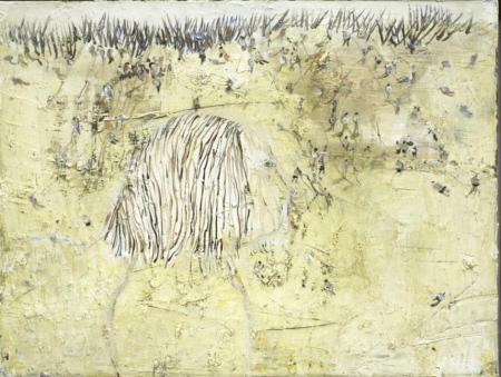 In den Dünen, 2007/2009,  Ölfarbe auf Leinwand, 60 x 80 cm