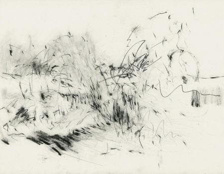 Improvisation über Seelandschaft I, 2008, Graphit,  50 x 65 cm