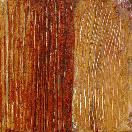 Fiorentina 4, 2009, Öl und Wachs auf Leinwand (20 x 20 cm)