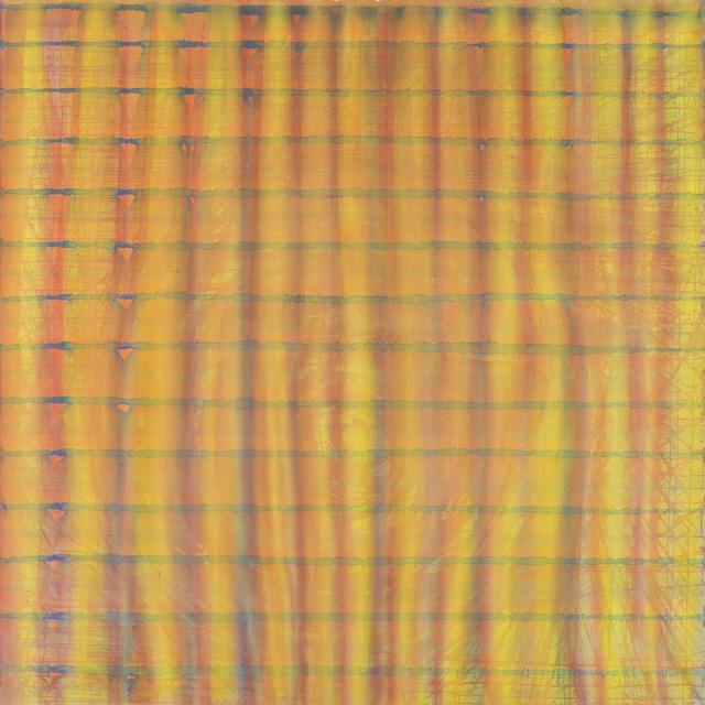 o. T., (Vorhang, Sonne), 2000 Gouache auf Nessel 150 x 150 cm