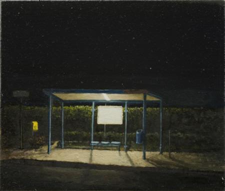 Deutschland / Delmenhorst /  Am Hasportsee, 2010,  Öl auf Leinwand auf Holz,  17 x 20 cm