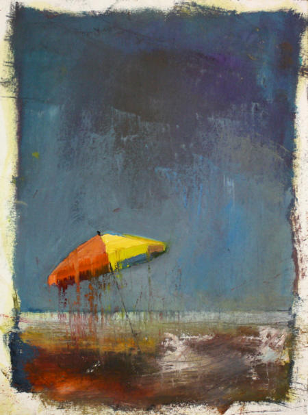 Schirm, 2013  29,7x21 cm  Öl auf Papier