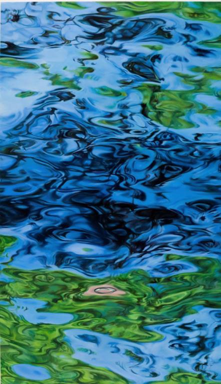 Ohne Titel ( WO XII),  Acryl und Öl auf Leinwand,  280 x 160 cm