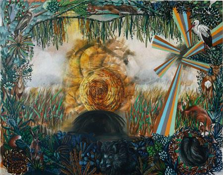 Im nordischen Paradies, 2008 Öl auf Leinwand 220 x 280 cm