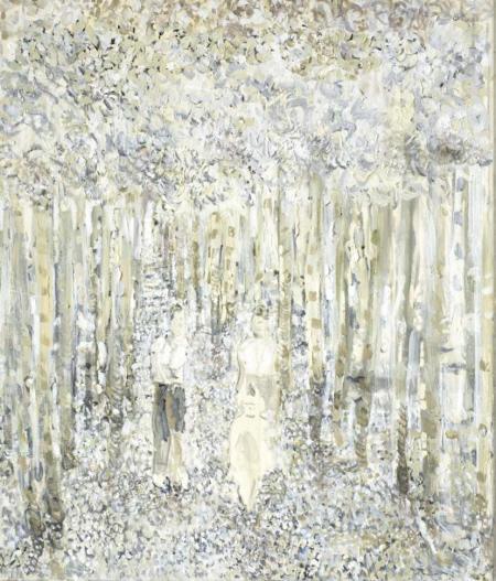 Allee, 2009,  Ölfarbe auf Leinwand,  70 x 60 cm.