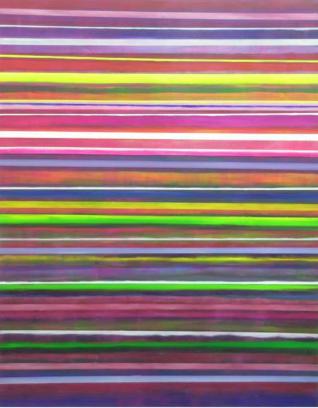 Analyse des Nordlichts, 2009,  Acryl und Öl auf Nessel, 190 x 150 cm,