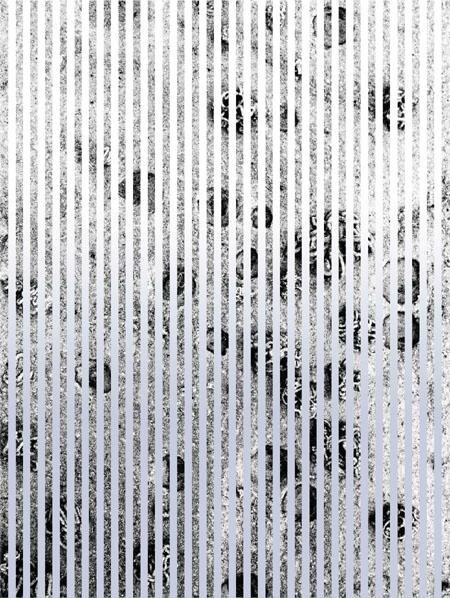 Wurmschlösser, 2008/2009 Fotografie, Lambda-Laserprint,  Colorpapier Silberfolie auf Dibond 120 x 90 cm