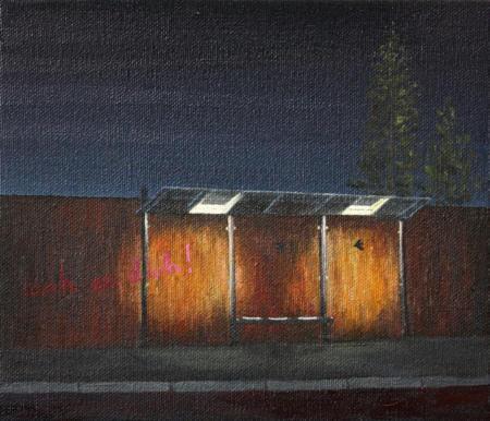 Deutschland / Oldenburg / Agentur für Arbeit, 2010,  Öl auf Leinwand auf Holz,  17 x 20 cm