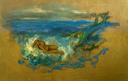 Boreas und Oreithyia 2009 Öl auf Leinwand 160 x 250 cm