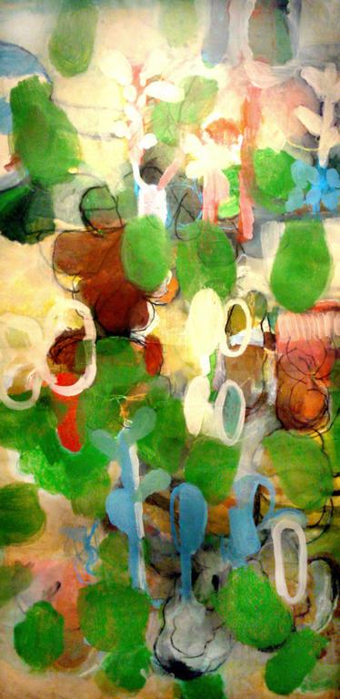 """Plants 1"", 2011,  Acryl auf Leinwand, 190 x 95 cm"