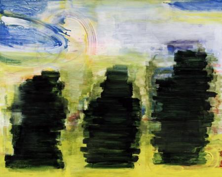 Im Grün, 2010,  Acryl auf Leinwand, 160 x 200 cm